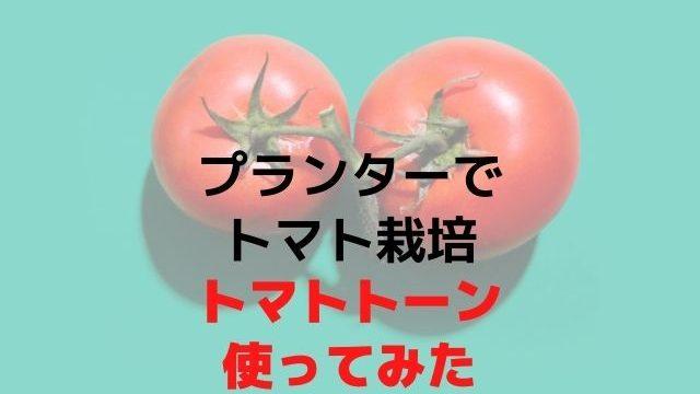 プランターに植えたトマトにトマトトーンを使ってみた